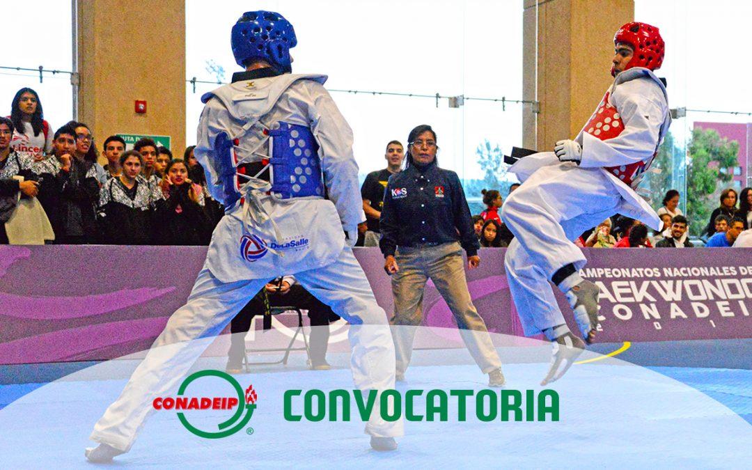 Convocatoria al Campeonato Nacional de Taekwondo 2019