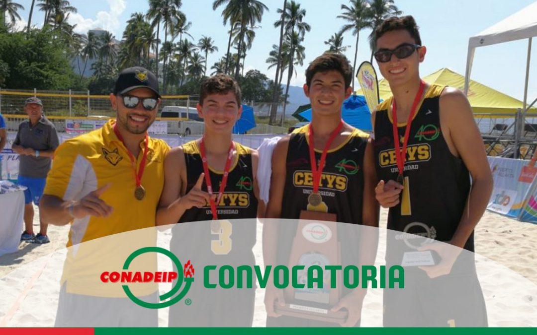 """Convocatoria a los Campeonatos Nacionales de Voleibol de Playa Categoria Juvenil """"C"""" y 1ra Fuerza 2019"""