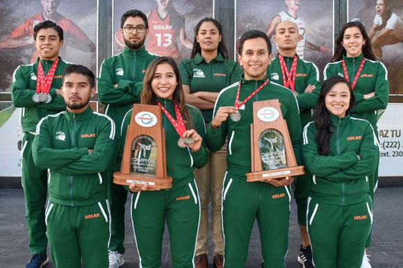Tri y bicampeones los Aztecas de Taekwondo de la UDLAP