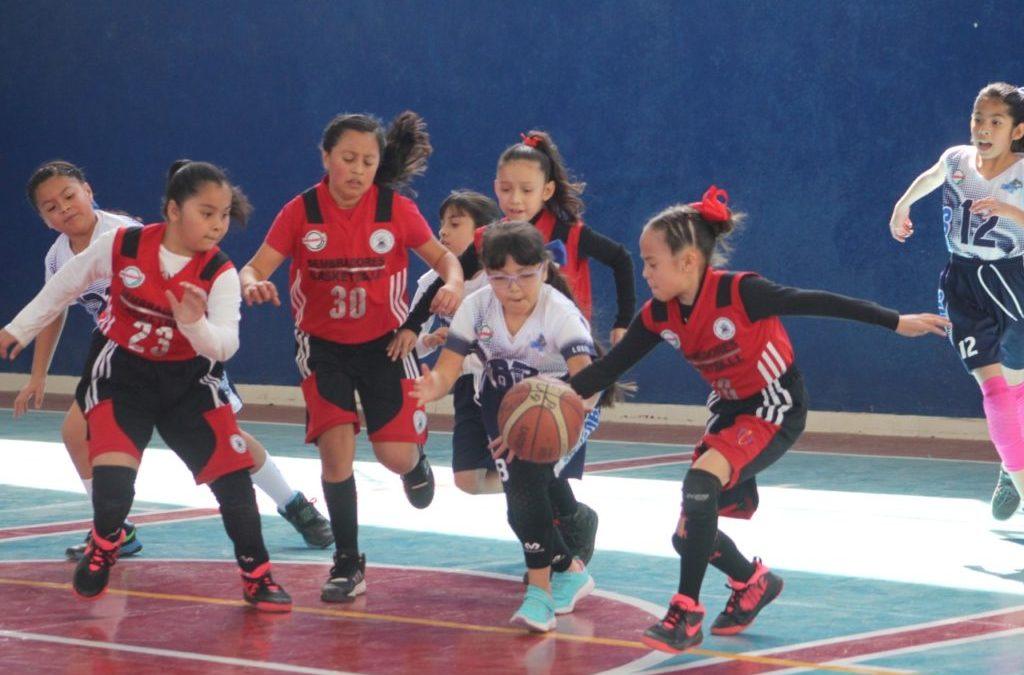 Celebran la eliminatoria infantil de basquetbol en San Luis Potosí