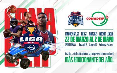 Convocatoria al 1er College Collision- CONADEIP Promocional de e-sports Online 2021