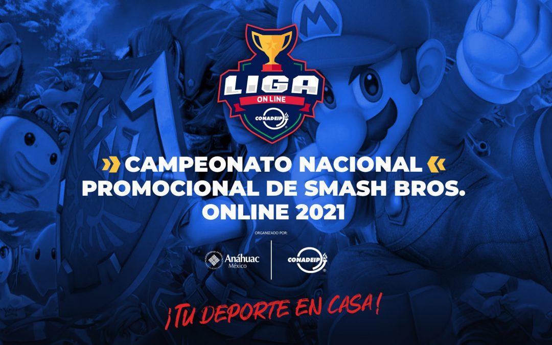 Convocatoria al Campeonato Nacional Promocional de Smash Bros. Online 2021
