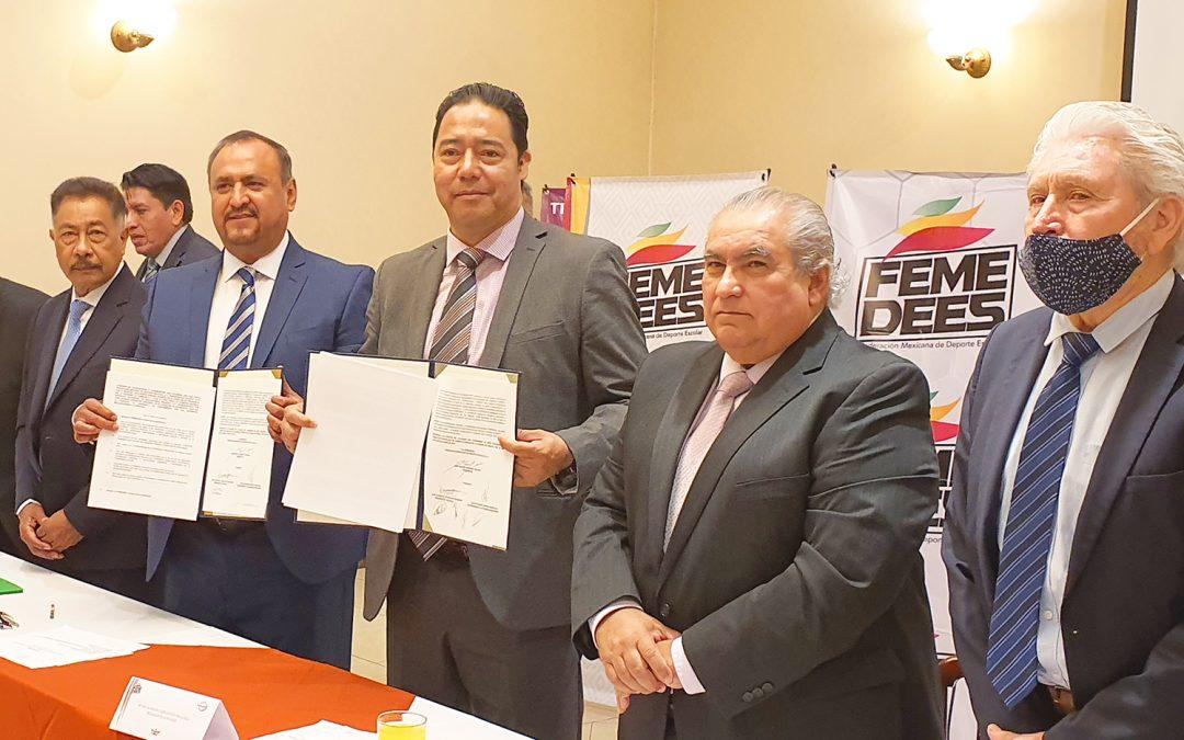 CONADEIP y FEMEDEES firman acuerdo para impulsar el deporte estudiantil a nivel internacional